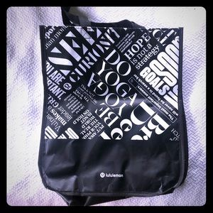 Black & Dark Blue large limited ed. Lululemon bags